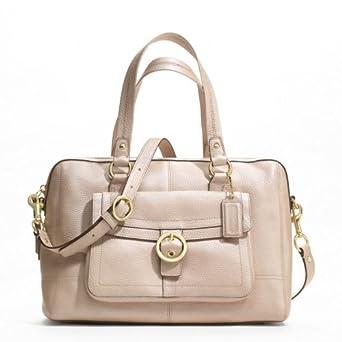 Coach Penelope Leather Buckle Satchel Handbag Style F19129 Pearl