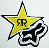 Fox Rockstar Energy Drink Patches Star Iron on Patch Racing Patches Embroidered Iron on Patch