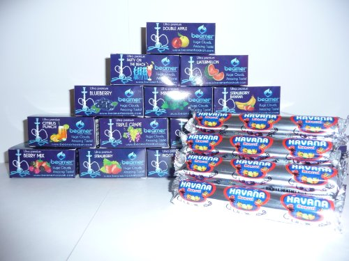 Premium-11-Black-Hookah-3-Boxes-of-Beamer-Hookah-Molasses-Flavors-30-Charcoals-Beamer-Card-and-Accessories