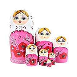 ilovebaby Brand New Matryoshka Nesting Dolls Authentic Russian Wooden for Birthday Gifts Toys for Baby by ilovebaby