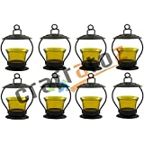 Christmas Gift Home Decorative Tealight / Candle Light ( Yellow ) Pack Of 8