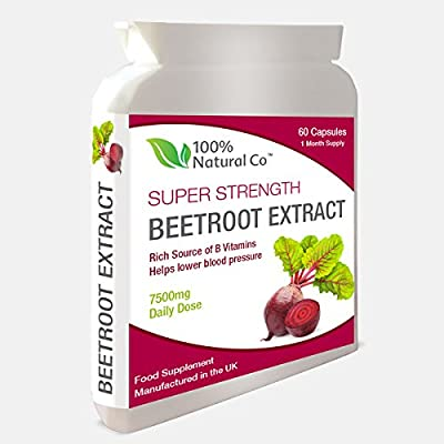 Beetroot Capsules 100% Natural Co Super Strength Extract from 100% Natural Co.