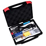 Image of Tabiger Soldering Iron 60W 110V-Adjustable Temperature Welding Soldering Iron with Tool Carry Case