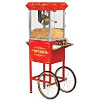 Maxi-Matic EPM-310 Elite 10-Ounce Old Fashioned Popcorn Machine Trolley with Accessories