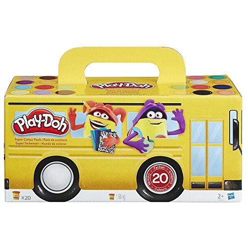 Hasbro Play-Doh A7924EU6 - Super Farbenset, 20-er Pack, Knete hergestellt von Hasbro Play-Doh