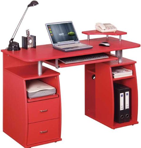 Piranha PC5r Large Computer Desk with 2 Drawers and 4 Shelves