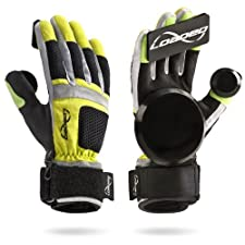Loaded Longboard Skateboard Freeride Slide Gloves V6 With Palm, Finger and Thumb Pucks Size S/M, Sticker Pack