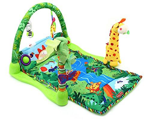 Play Mat Suave de Bebé Selva Tropical Música Juguete Toy de Gimnasia