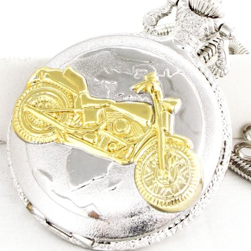Belt Loop Quartz Pocket Watch with (Motorcycle)