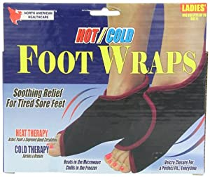 beautyko Hot/Cold Foot Wraps, Unisex