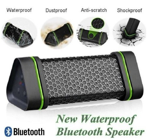 Sunny Group-Earson Outdoor Sport Waterproof Shockproof Dust-Proof Support All Digital Audio Device With 3.5Mm Jack Wireless Bluetooth Speaker-Black