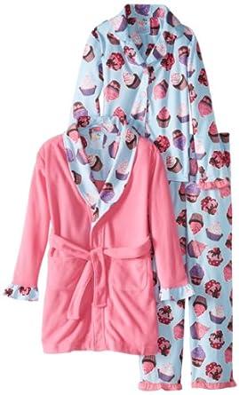 Baby Bunz Little Girls'  Hello Cupcake Pajama Set, Pink, 2T