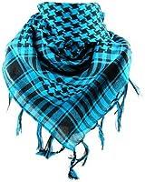 *** PROMOTION *** Foulard Palestinien - Keffieh - Chèche - Pashmina - Bleu et Noir