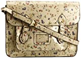 SwankySwans Girl's Tara Micro Floral Print Satchel Light Gold