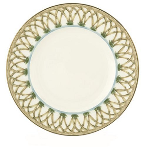 Lenox Colonial Bamboo Gold Banded Bone China 9-Inch Accent Plate