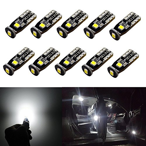 JDM ASTAR 10pcs Super Bright 194 168 175 2825 T10 PX Chipsets LED Bulbs,Xenon White (Best Value on the market) (1999 Jeep Factory Service Manual compare prices)