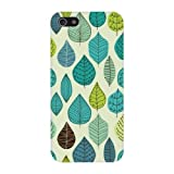 Trendy Teal Leaves Pattern Hard Case Cover iPhone 5C Reviews