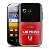 Head Case Designs Fire Nail Polish Protective Snap-on Hard Back Case Cover for Samsung Galaxy Y S5360