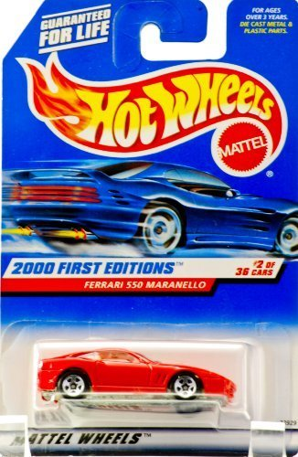 Hot Wheels 2000-062 First Editions RED Ferrari 550 Maranello 1:64 Scale