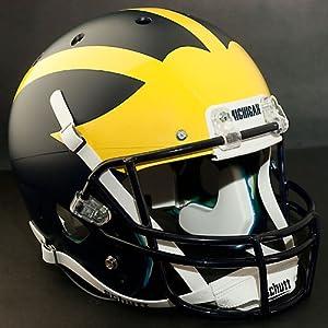 MICHIGAN WOLVERINES Schutt AiR XP Authentic GAMEDAY Football Helmet (MATTE NAVY BLUE) by ON-FIELD