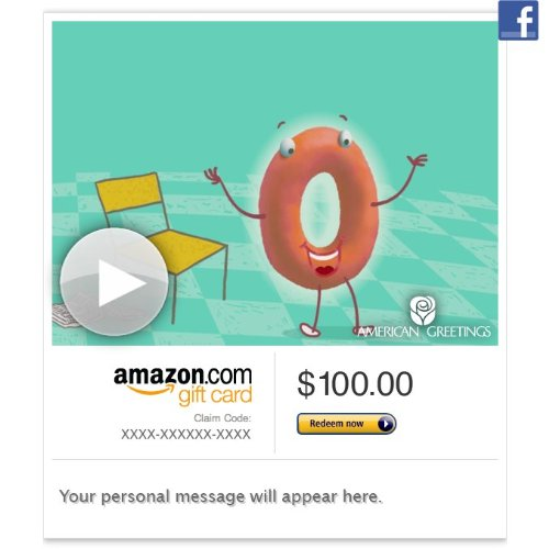 Amazon Gift Card - Facebook - Your Standing O (Animated) [American Greetings] front-618394