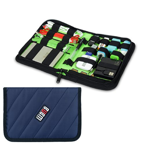 Damai Portable Electronics Accessories Organizer / Travel Organiser / Hard Drive Case/ Baby Healthcare & Grooming Kit-6 Color (Diamond Blue) front-731013