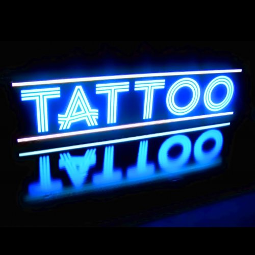 Tattoo And Piercing Light Box Sign - Led/Neon Alternative Hvb