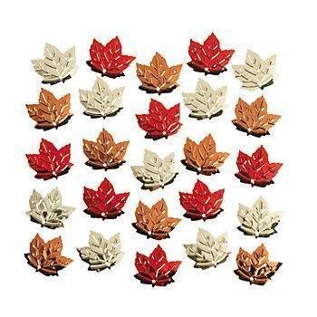 Foil Fall Leaf / Autumn Leaves Confetti ~ 2 Oz. ~ Approx. 3/4