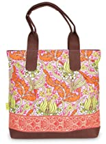 Amy Butler Cara Tote,Temple Tulips Tangerine,one size