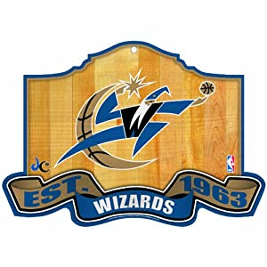 NBA Washington Wizards 11-by-17 inch Established Wood Sign