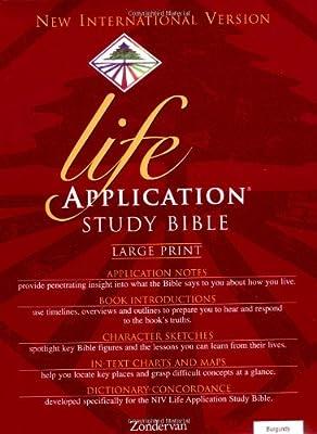 Holy Bible: New Internation Version Life Application Bible/ Large Print/ Burgundy Bonded Leather/ Plain (English)