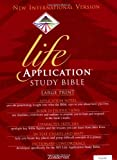 img - for NIV Life Application Study Bible, Large Print (NIV Life Application Bible) book / textbook / text book