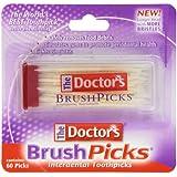 The Doctors Brushpicks Toothpicks 60 Picks