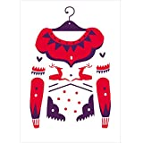 V&A Christmas Cards - Christmas Jumper by Karolin Schnoor (Pack of 10)||RNWIT||EVAEX