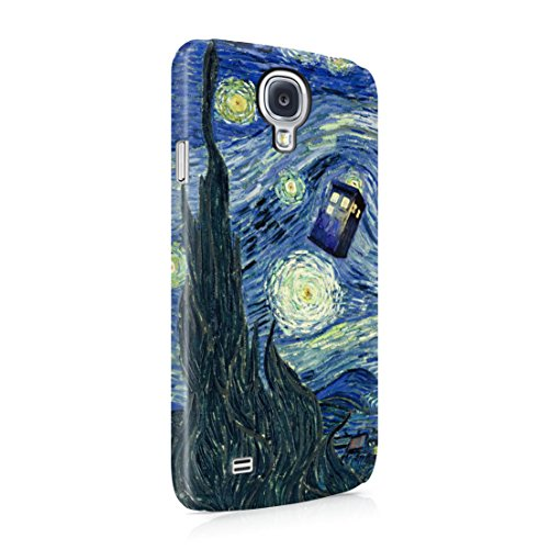 Doctor Who Tardis Van Gogh Starry Night Samsung Galaxy S4 Mini Hard Plastic Phone Case Cover