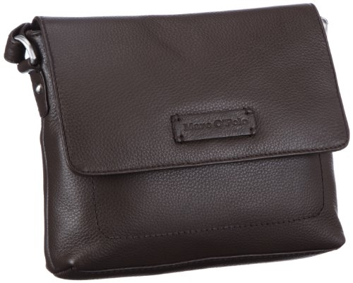Marc O'Polo Accessories Malene Ueberschlagtasche Shoulder Women brown Braun (dkl braun 79000) Size: 6x18x22 cm (B x H x T)