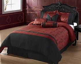 &: Cozy Beddings Oyuki 7 Piece Comforter Set, California King