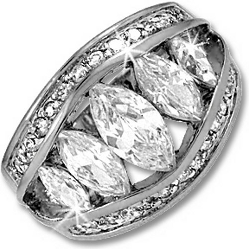 Silver Marquis Pave Designer Inspired Cocktail Ring (8)