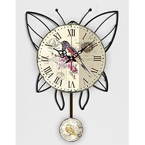 HORLOGE MURALE PENDULUM PAPILLON NOUVELLE CUISINE- Tinas Collection- la conception avec une différence 51YRm3EBkTL._SL500_AA300_