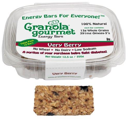 Granola Gourmet Very Berry ORIGINAL RECIPE Energy Bars, Bakery Multi-Pack, 10-Count Bars (Pack of 2)
