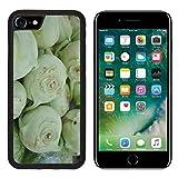 Luxlady Premium Apple iPhone 7 iPhone7 Aluminum Backplate Bumper Snap Case Celery Sliced Disc White Image 318168