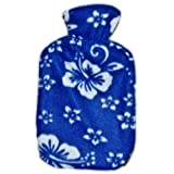 Warm Tradition Child/Travel Size Blue Orchid Fleece Covered Hot Water Bottle - Bottle made in Germany, Cover made in USA