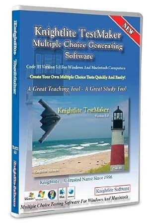 Knightlite TestMaker - Multiple Choice Test Generator Version 5.0