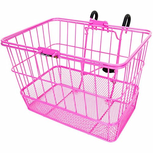 Sunlite Standard Mesh Bottom Lift-Off Front Basket with Bracket - Pink