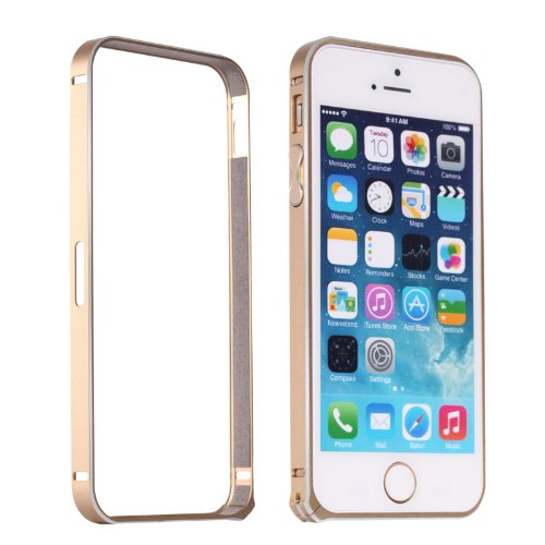 Moon Monkey Lightweight Luxury Slim Metal Frame Bumper Protective Case For Iphone 5S 5 (Mm416) (Champagne Gold)