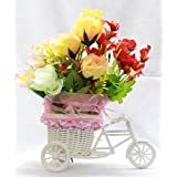 Creativegifts Vase Cycle Shape Flower Pot With Flowers Flower Bucket Vases Flower Pots For Home Decor