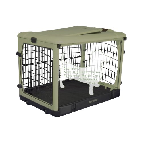 Pet Gear 'The Other Door' Steel Crate For Cats And Dogs Up To 30-Pounds, 27-Inches, Sage