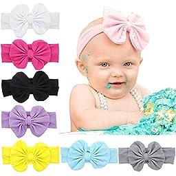 QM Baby Newest Turban Headbands Head Wrap Knotted Hair Band (LQM-002-8PCS)