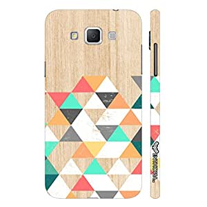 Samsung Galaxy Grand 3 Wooden Coloured Triangle 1 designer mobile hard shell case by Enthopia