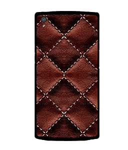 printtech Leather Sew Pattern Back Case Cover for OnePlus X